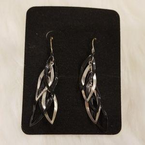 Black & Silver Dangling Earrings